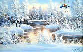 """Картина на холсте """"Зимнее таинство"""""""