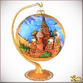 Ёлочный шар ручной работы на подставке Московский Кремль