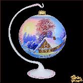 Ёлочный шар ручной работы на подставке Пейзаж Рассвет