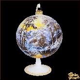 Ёлочный шар ручной работы на подставке Пейзаж Олени у воды