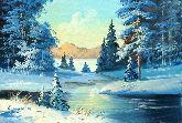 """Картина на холсте """"Зима в Подмосковье"""""""