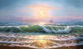 """Картина на холсте """"Бушующее море"""""""
