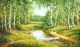 "Картина на холсте ""У тихой речки"""