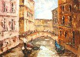 """Картина на холсте """"Прогулка по каналам Венеции"""""""