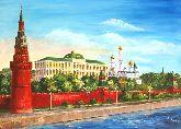 "Картина на холсте ""Вид на Кремль"""