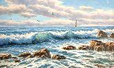 """Картина на холсте """"Скалистый берег моря"""""""