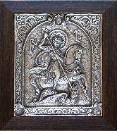 Икона Георгий Победоносец, рамка классическая, 100х130