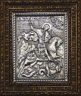Икона Георгий Победоносец, рамка резная, 100х120