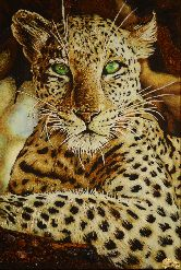 Картина из янтаря Гепард