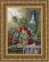 Кувшин с виноградом 58*80 Панно гобелен, двойной багет