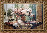 Ваза с розами 95*140 Панно гобелен, двойной багет