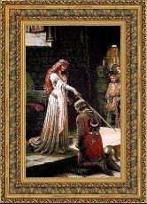 Посвящение в рыцари 50*65 Панно гобелен, двойной багет