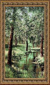 Весенний лес 50*65 Панно гобелен, двойной багет