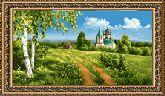 Село Воскресенское 20*34 Панно гобелен, двойной багет