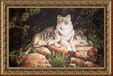 Волки 50*65 Панно гобелен, двойной багет