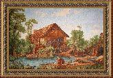 Голландский вид 70*110 Панно гобелен, двойной багет