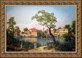 Голландский пейзаж 70*110 Панно гобелен, двойной багет