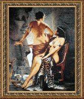 Афродита 50*65 Панно гобелен, двойной багет