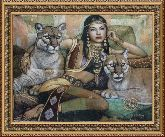 Египтянка 58*80 Панно гобелен, двойной багет