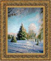 Зимний пейзаж 50*65 Панно гобелен, двойной багет