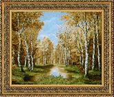 Золотая Осень  70*110 Панно гобелен, двойной багет