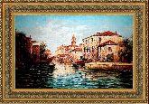 Каналы Венеции 70*100 Панно гобелен, двойной багет