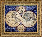 Карта 120*135 Панно гобелен, двойной багет