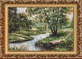 Пейзаж с мостиком 50*65 Панно гобелен, багет 3016.5