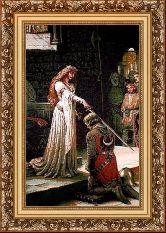 Посвящение в рыцари 50*65 Панно гобелен, багет 3016.5
