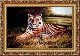 Тигр 50*65 Панно гобелен, багет 3016.5