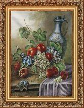 Кувшин с виноградом 58*80 Панно гобелен, багет 3016.5
