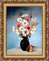 Луговые цветы 50*65 Панно гобелен, багет 3016.5