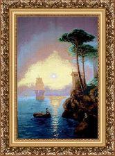Морской закат 70*100 Панно гобелен, багет 3016.5