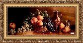 Натюрморт с персиком 50*100 Панно гобелен, багет 3016.5