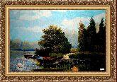 Озеро 70*100 Панно гобелен, багет 3016.5