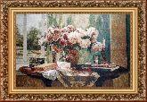 Ваза с розами 95*140 Панно гобелен, багет 3016.5