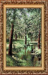Весенний лес 50*65 Панно гобелен, багет 3016.5