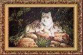 Волки 50*65 Панно гобелен, багет 3016.5