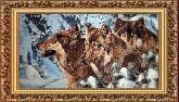 Волки в лесу 60*110 Панно гобелен, багет 3016.5