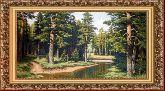 Вологодский лес 70*110 Панно гобелен, багет 3016.5
