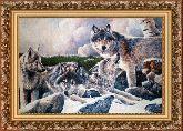 Волчье логово 70*110 Панно гобелен, багет 3016.5