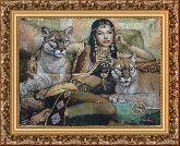 Египтянка 58*80 Панно гобелен, багет 3016.5