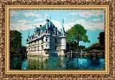 Замок Азаи 70*100 Панно гобелен, багет 3016.5