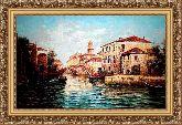 Каналы Венеции 70*100 Панно гобелен, багет 3016.5