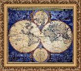 Карта 120*135 Панно гобелен, багет 3016.5