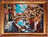 Городской пейзаж Венеции из янтаря