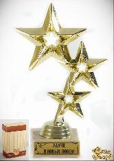 Кубок подарочный Три звезды Удачи и новых побед! 17см