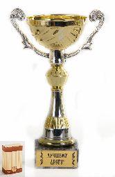 Кубок Чаша золотая с серебр.рельефными ручками Лучшему другу