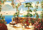 "Картина на холсте ""Райский уголок у моря"""