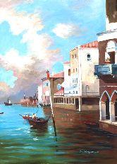 """Картина на холсте """"Венецианский канал"""""""